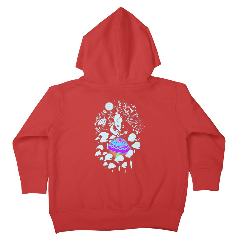 Alice in Fungi-land Kids Toddler Zip-Up Hoody by filsoofdesigns's Artist Shop