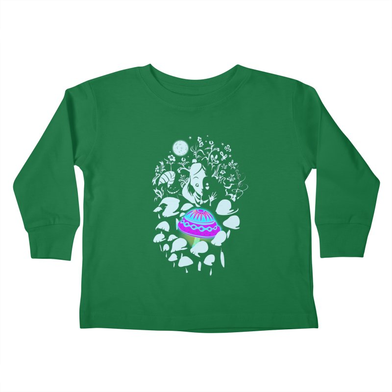 Alice in Fungi-land Kids Toddler Longsleeve T-Shirt by filsoofdesigns's Artist Shop