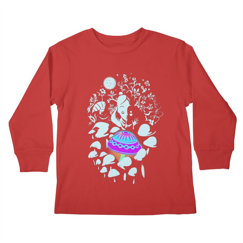 Alice in Fungi-land Kids Longsleeve T-Shirt by filsoofdesigns's Artist Shop