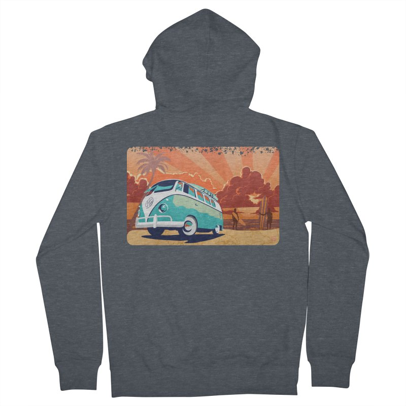 Endless Kombi Summer  Men's Zip-Up Hoody by filsoofdesigns's Artist Shop