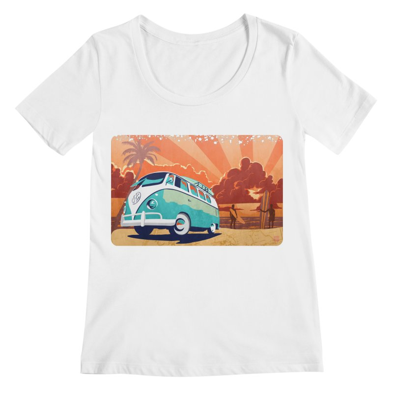 Endless Kombi Summer  Women's Scoopneck by filsoofdesigns's Artist Shop