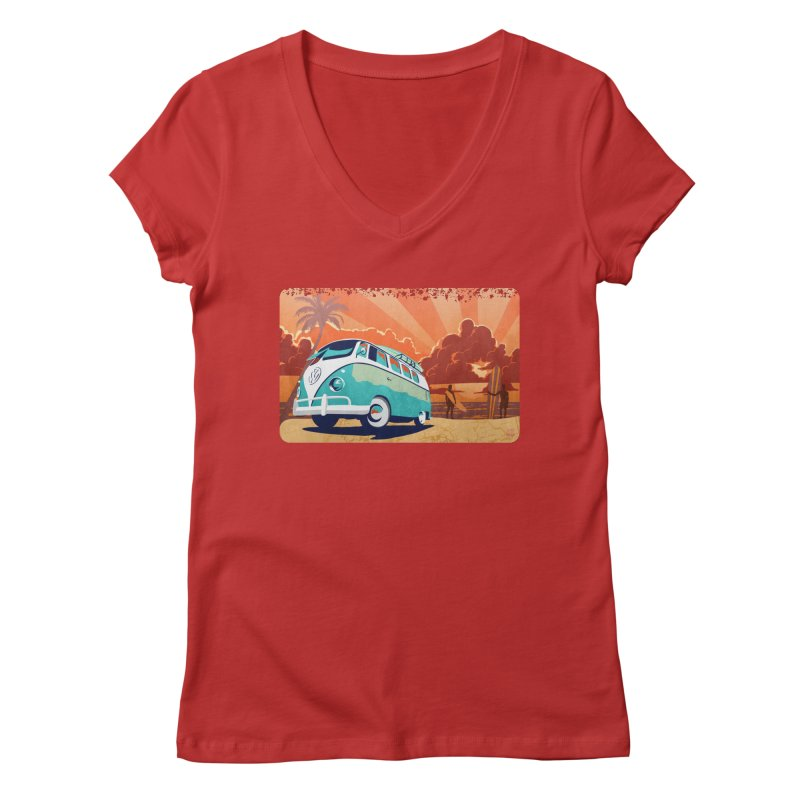 Endless Kombi Summer  Women's V-Neck by filsoofdesigns's Artist Shop