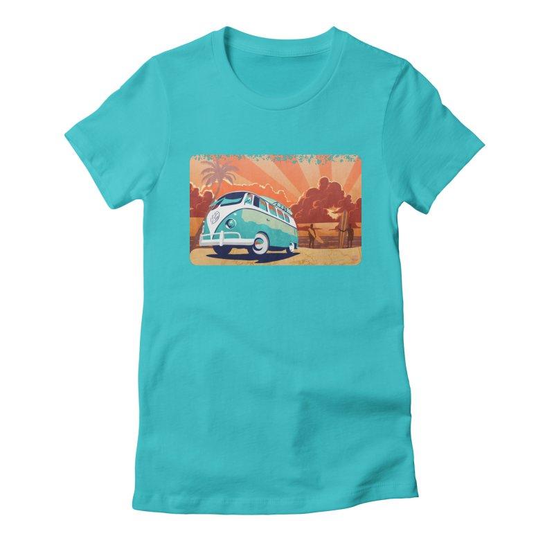 Endless Kombi Summer  Women's Fitted T-Shirt by filsoofdesigns's Artist Shop