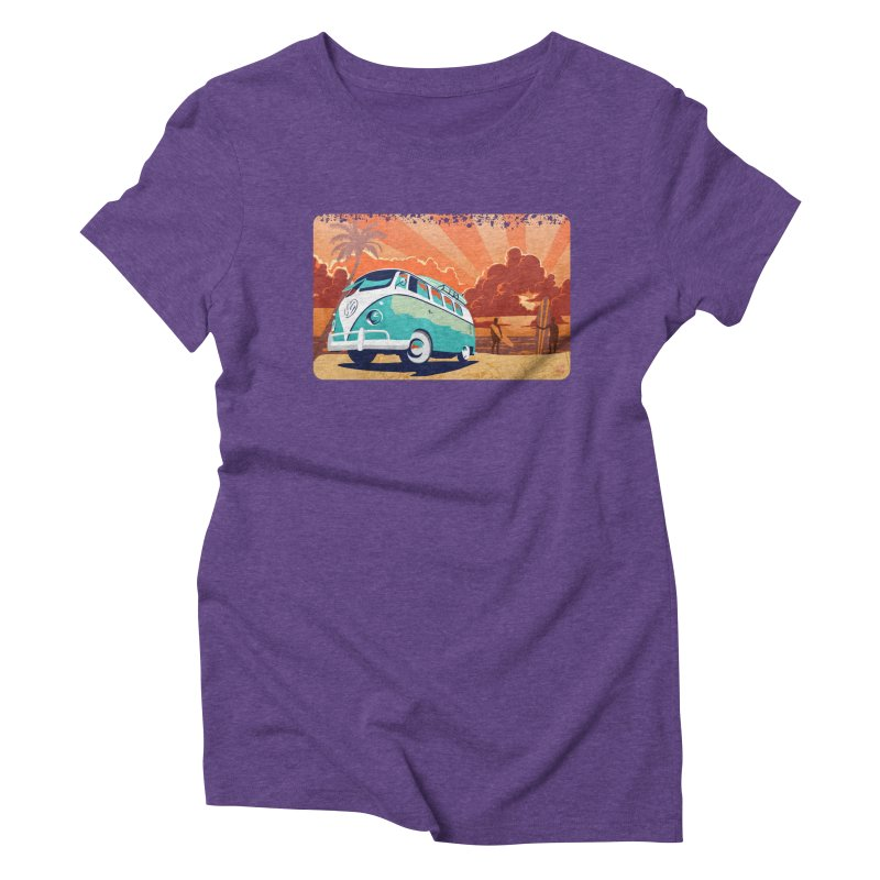 Endless Kombi Summer  Women's Triblend T-shirt by filsoofdesigns's Artist Shop