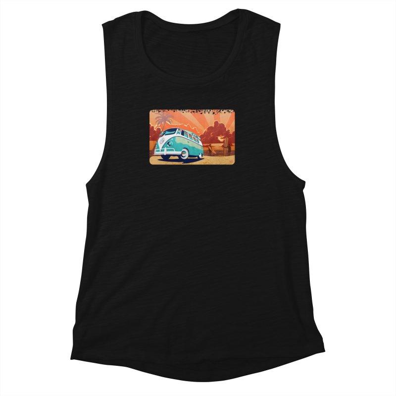 Endless Kombi Summer  Women's Muscle Tank by filsoofdesigns's Artist Shop
