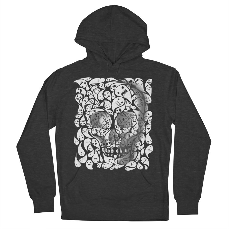 skull doodles Men's Pullover Hoody by filsoofdesigns's Artist Shop