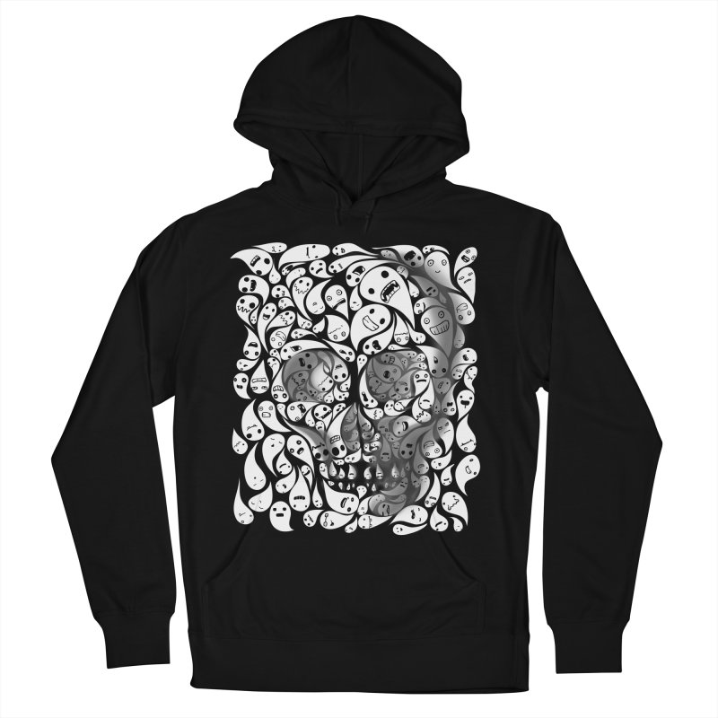 skull doodles Men's Pullover Hoody by filsoofdesigns's Artist Shop