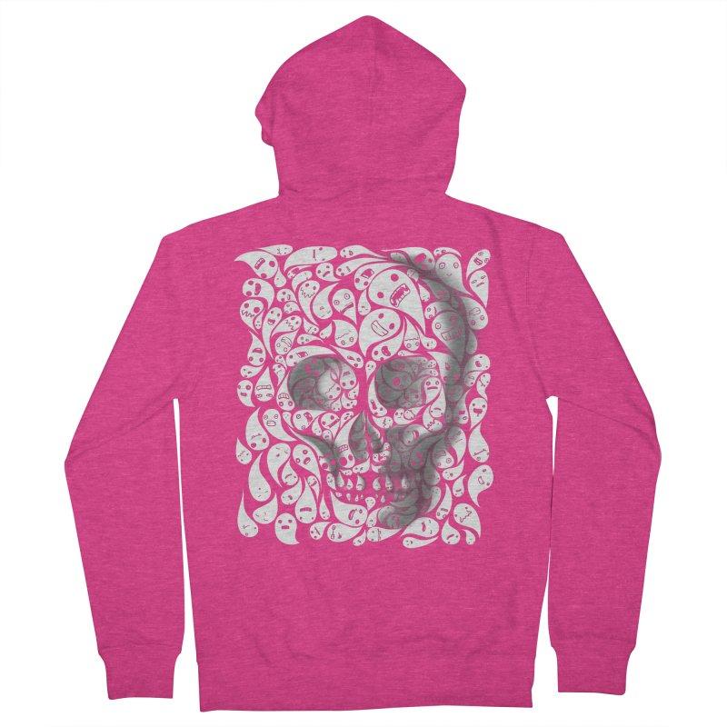 skull doodles Women's Zip-Up Hoody by filsoofdesigns's Artist Shop
