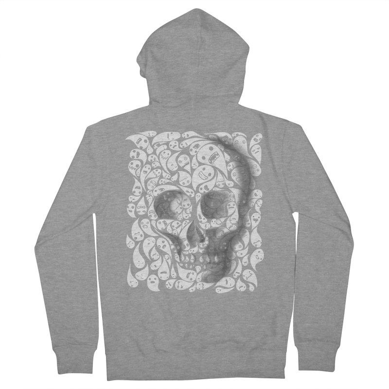 skull doodles Men's Zip-Up Hoody by filsoofdesigns's Artist Shop