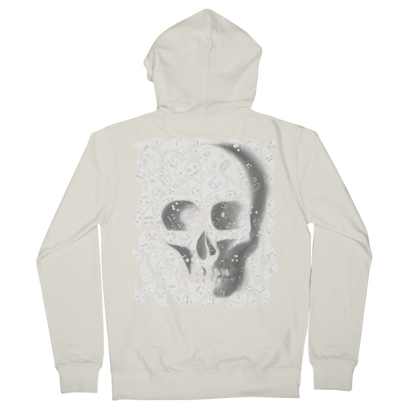 skull doodles Men's Zip-Up Hoody by filsoofdesigns's Artist Shop