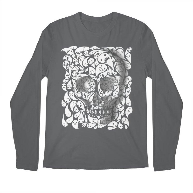 skull doodles Men's Longsleeve T-Shirt by filsoofdesigns's Artist Shop