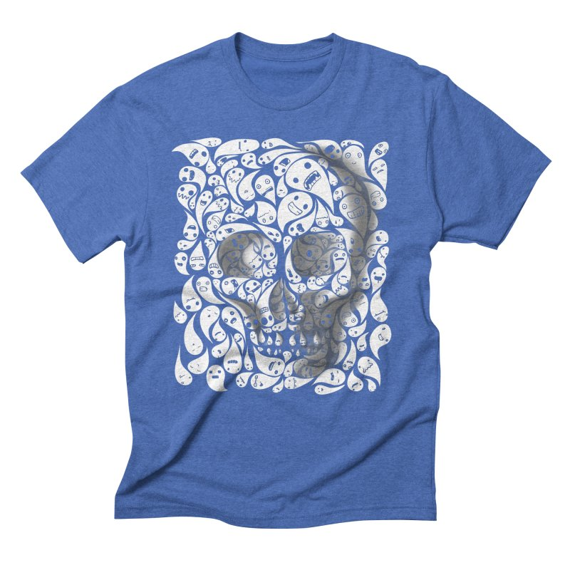 skull doodles Men's Triblend T-shirt by filsoofdesigns's Artist Shop