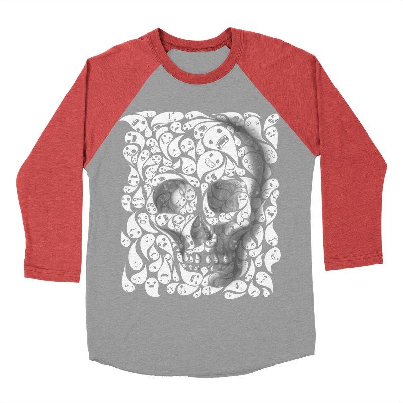 skull doodles Women's Baseball Triblend T-Shirt by filsoofdesigns's Artist Shop