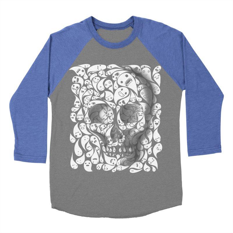 skull doodles Men's Baseball Triblend T-Shirt by filsoofdesigns's Artist Shop