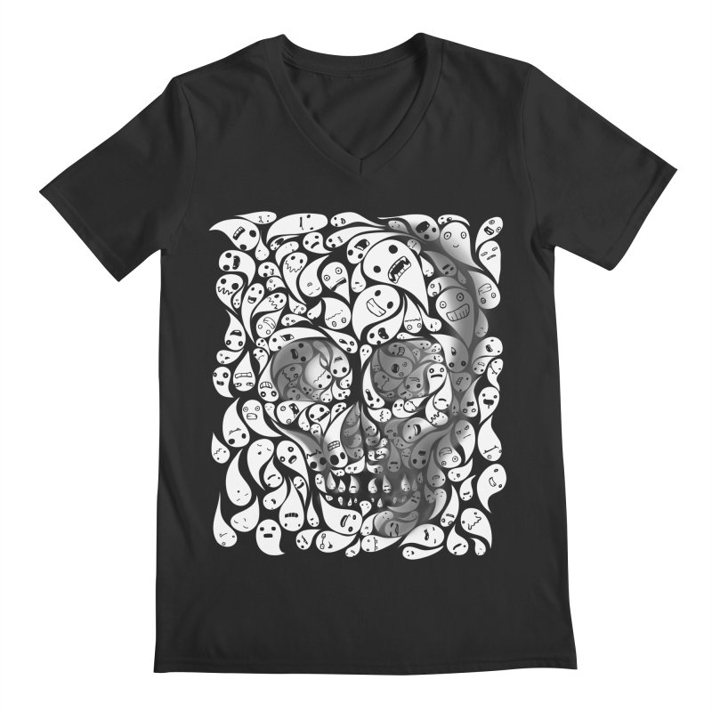 skull doodles Men's V-Neck by filsoofdesigns's Artist Shop
