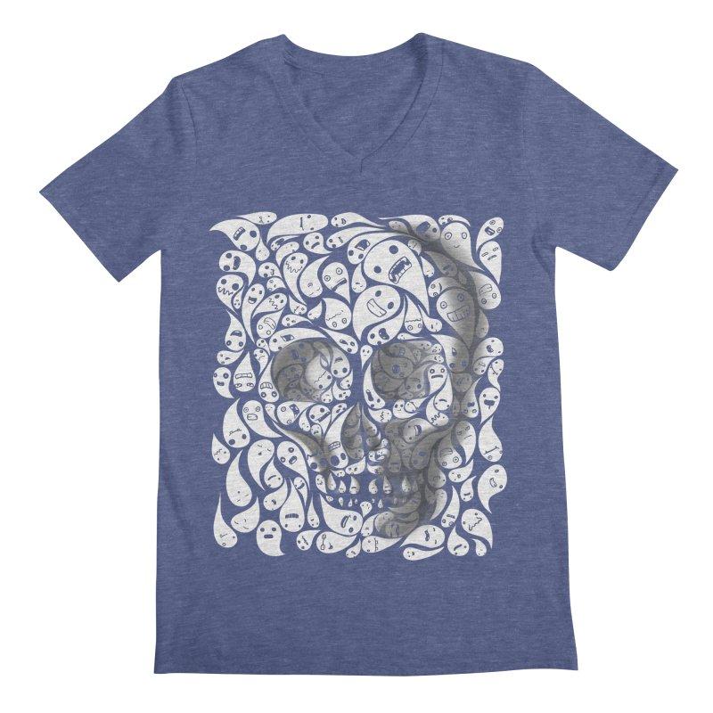 skull doodles Men's V-Neck by filsoofdesigns's Artist Shop