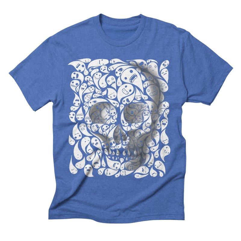 skull doodles Men's Triblend T-shirt by filsoofdesigns's Artist Shop