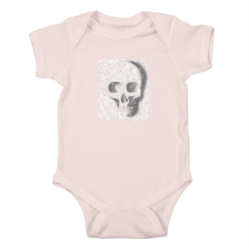 skull doodles Kids Baby Bodysuit by filsoofdesigns's Artist Shop