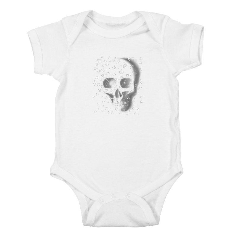 skull doodles Kids Baby Bodysuit by filsoofdesigns's Artist Shop