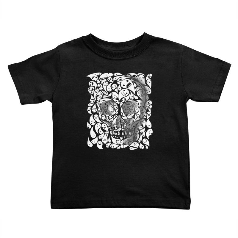 skull doodles Kids Toddler T-Shirt by filsoofdesigns's Artist Shop