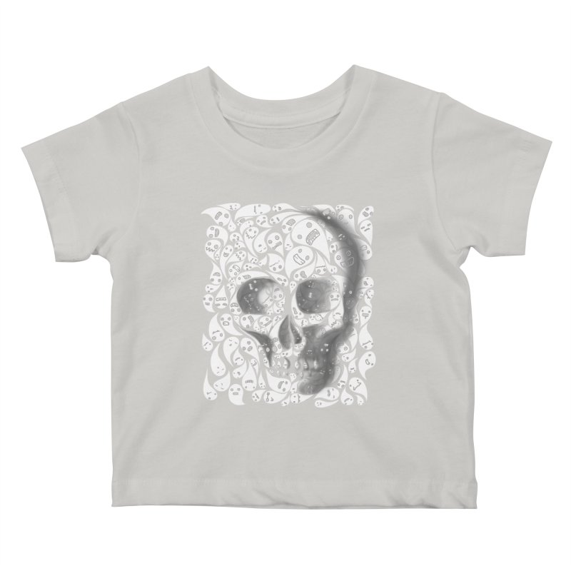 skull doodles Kids Baby T-Shirt by filsoofdesigns's Artist Shop