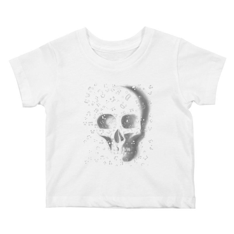 skull doodles Kids Baby T-Shirt by filsoofdesigns's Artist Shop