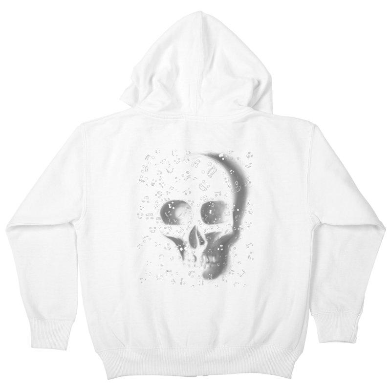 skull doodles Kids Zip-Up Hoody by filsoofdesigns's Artist Shop