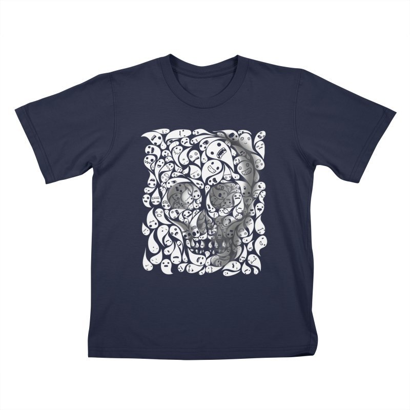 skull doodles Kids T-shirt by filsoofdesigns's Artist Shop