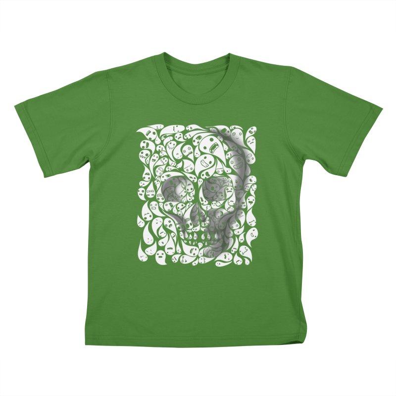 skull doodles Kids T-shirt by filsoofdesigns's Artist Shop