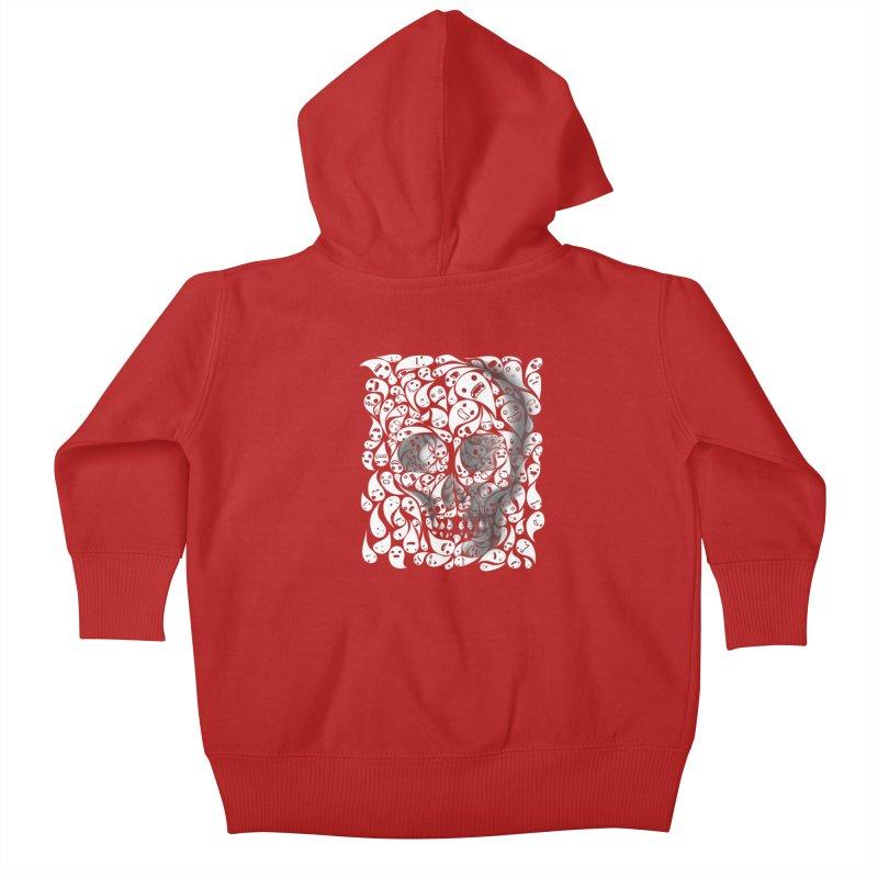 skull doodles Kids Baby Zip-Up Hoody by filsoofdesigns's Artist Shop