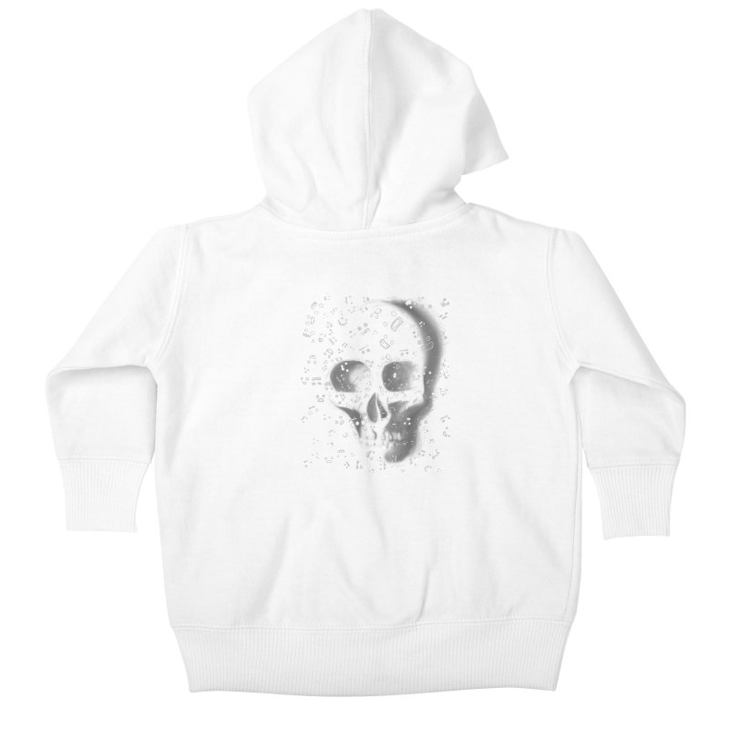 skull doodles Kids Baby Zip-Up Hoody by filsoofdesigns's Artist Shop
