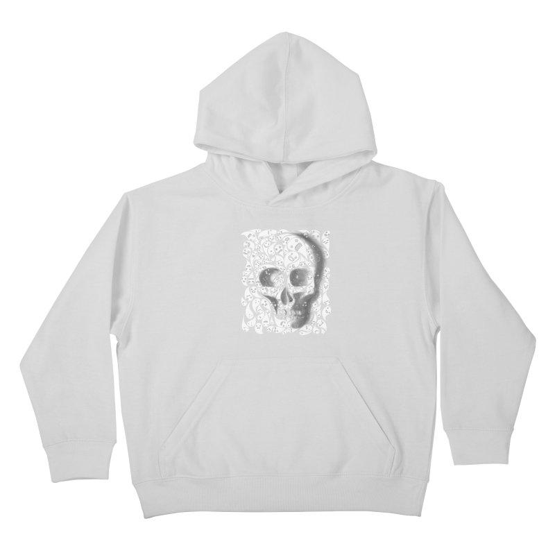 skull doodles Kids Pullover Hoody by filsoofdesigns's Artist Shop
