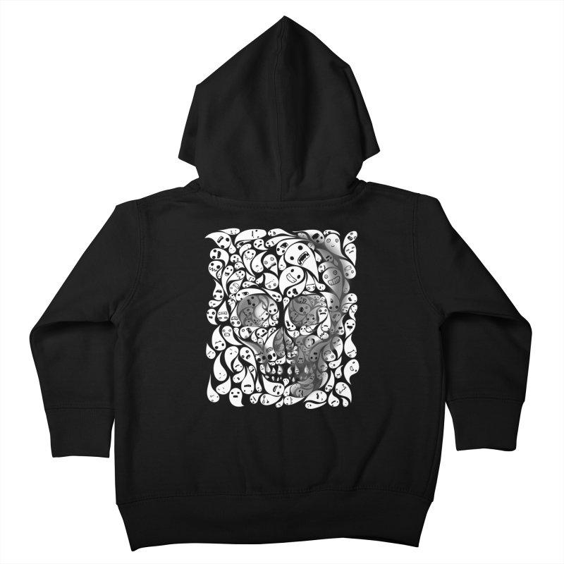skull doodles Kids Toddler Zip-Up Hoody by filsoofdesigns's Artist Shop