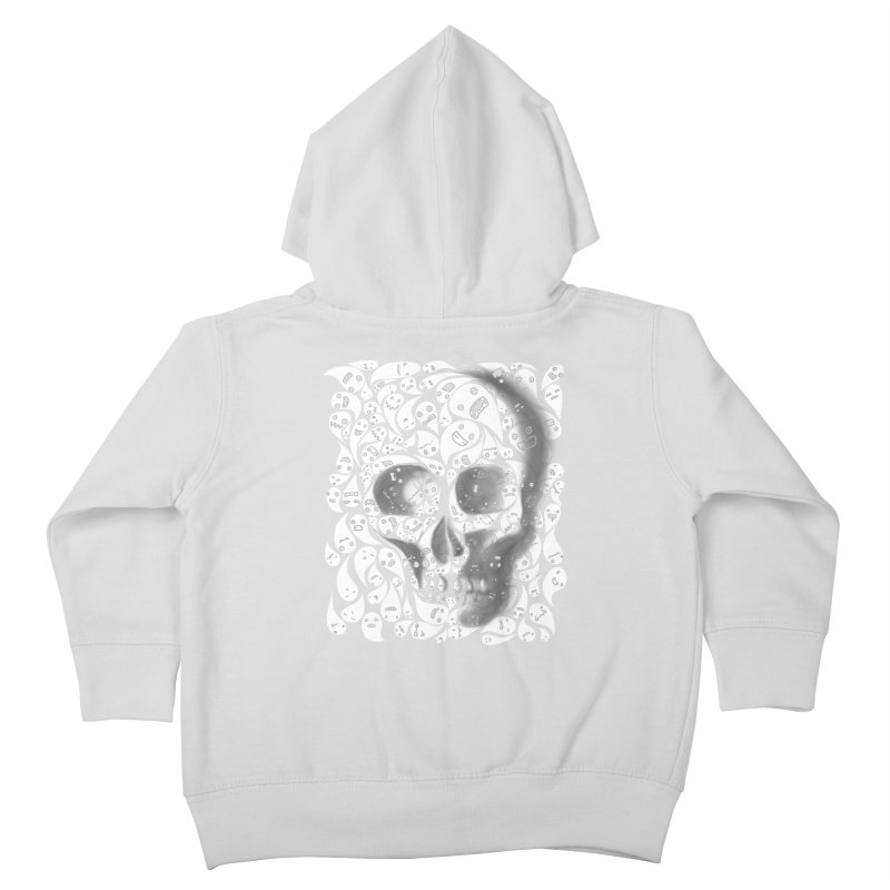 skull doodles Kids Toddler Zip-Up Hoody by filsoofdesigns's Artist Shop