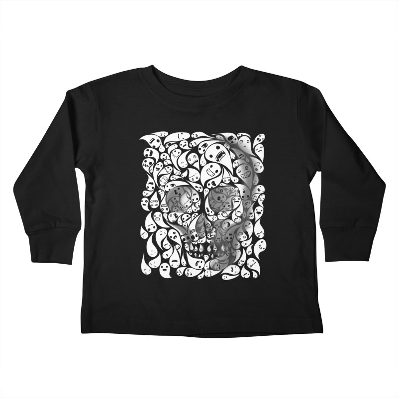 skull doodles Kids Toddler Longsleeve T-Shirt by filsoofdesigns's Artist Shop