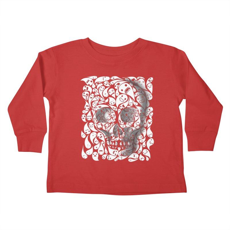 skull doodles Kids Toddler Longsleeve T-Shirt by filsoofdesigns's Artist Shop