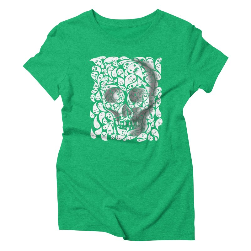 skull doodles Women's Triblend T-Shirt by filsoofdesigns's Artist Shop
