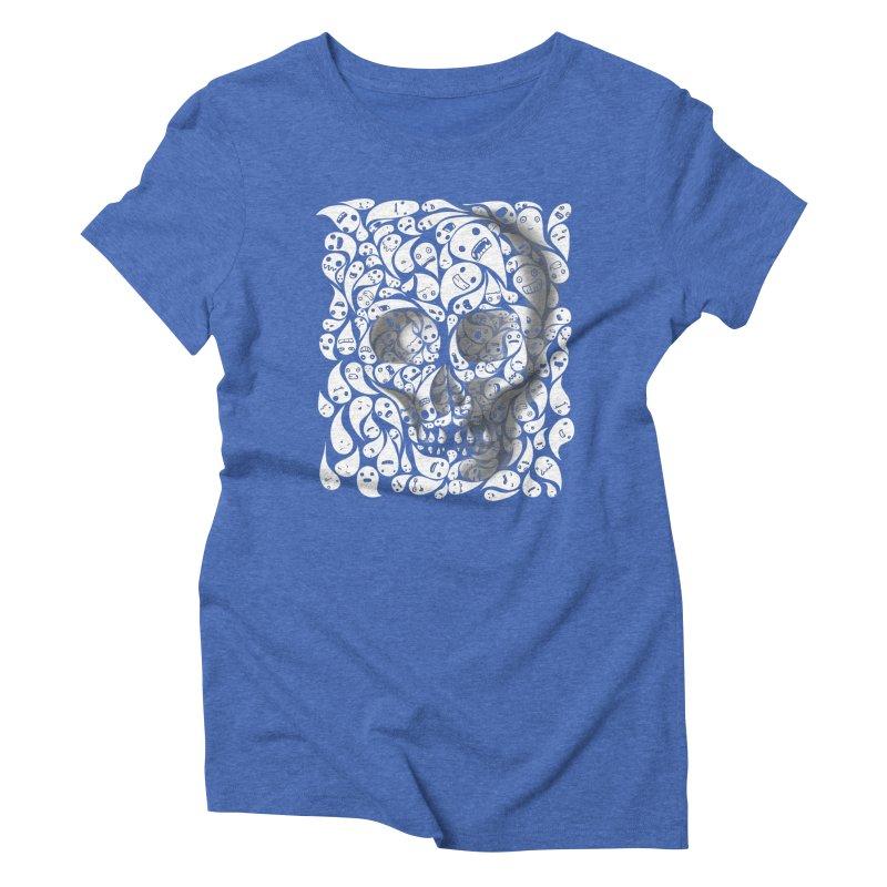 skull doodles Women's Triblend T-shirt by filsoofdesigns's Artist Shop