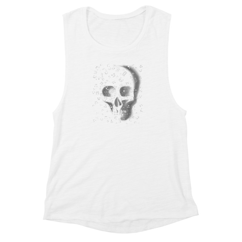 skull doodles Women's Muscle Tank by filsoofdesigns's Artist Shop