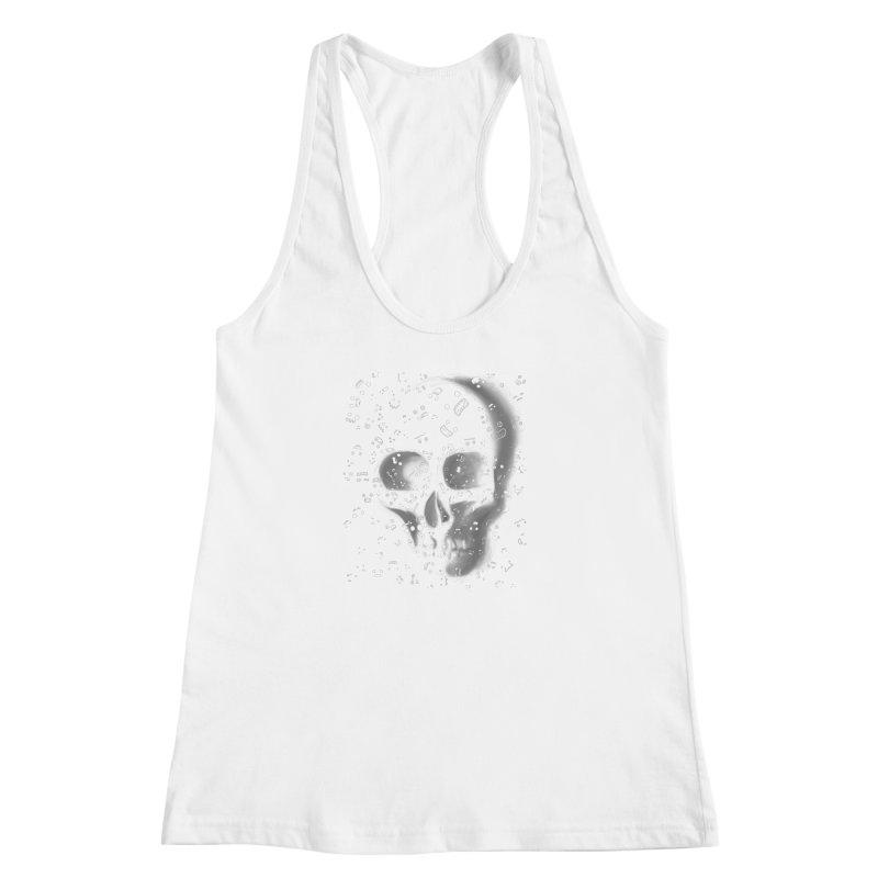 skull doodles Women's Racerback Tank by filsoofdesigns's Artist Shop