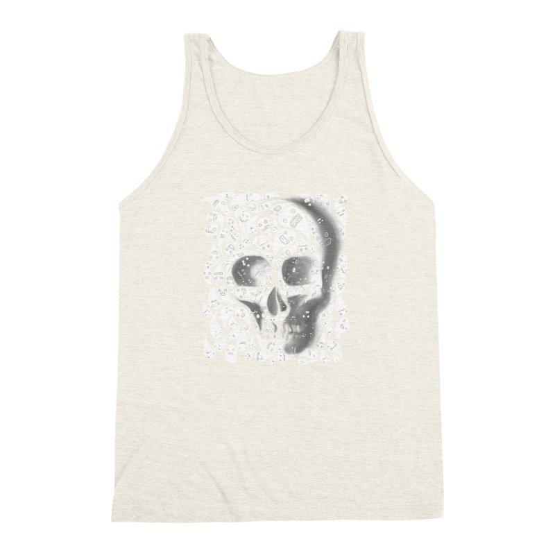 skull doodles Men's Triblend Tank by filsoofdesigns's Artist Shop