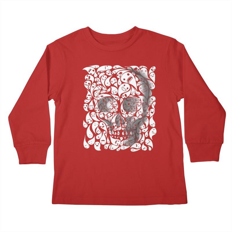 skull doodles Kids Longsleeve T-Shirt by filsoofdesigns's Artist Shop