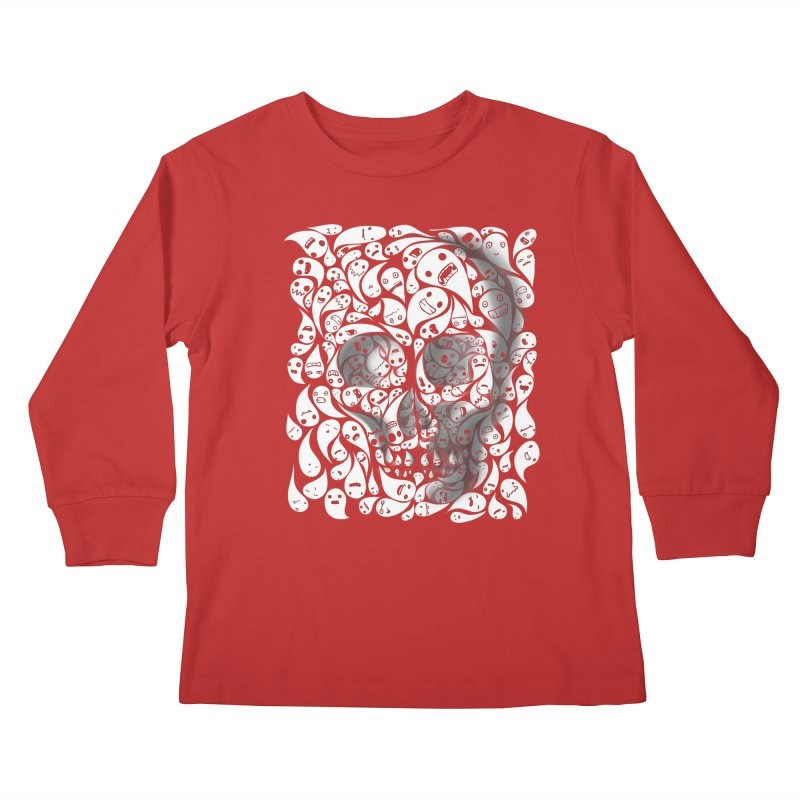 skull doodles Kids Longsleeve T-Shirt by filsoofdesigns's Artist Shop