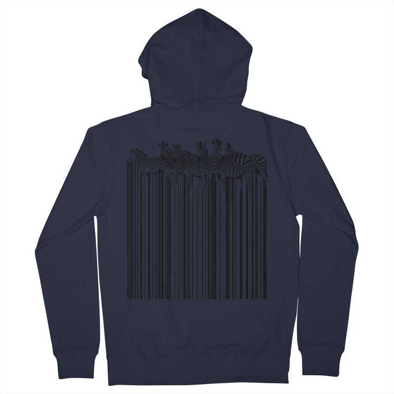 zebra barcode Men's Zip-Up Hoody by filsoofdesigns's Artist Shop