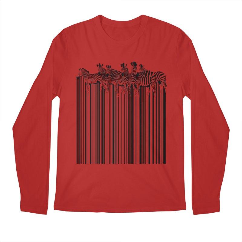 zebra barcode Men's Longsleeve T-Shirt by filsoofdesigns's Artist Shop