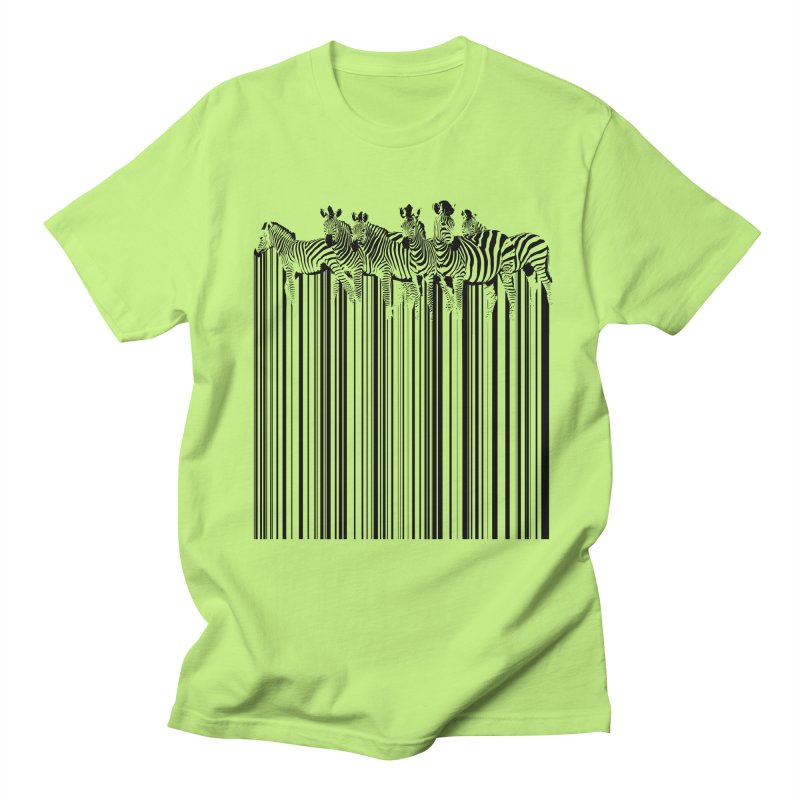 zebra barcode Men's T-shirt by filsoofdesigns's Artist Shop