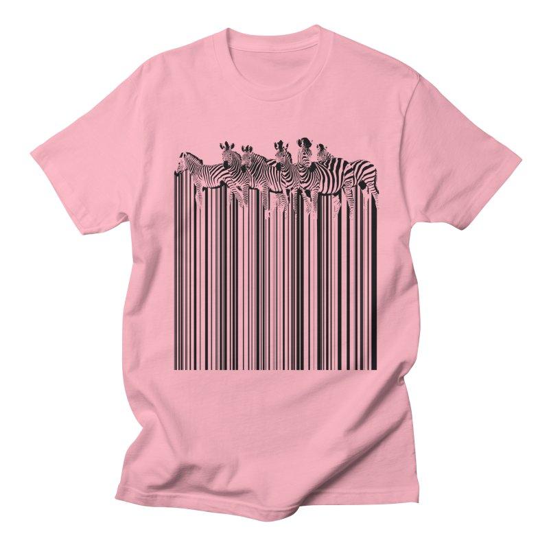 zebra barcode Men's T-Shirt by filsoofdesigns's Artist Shop