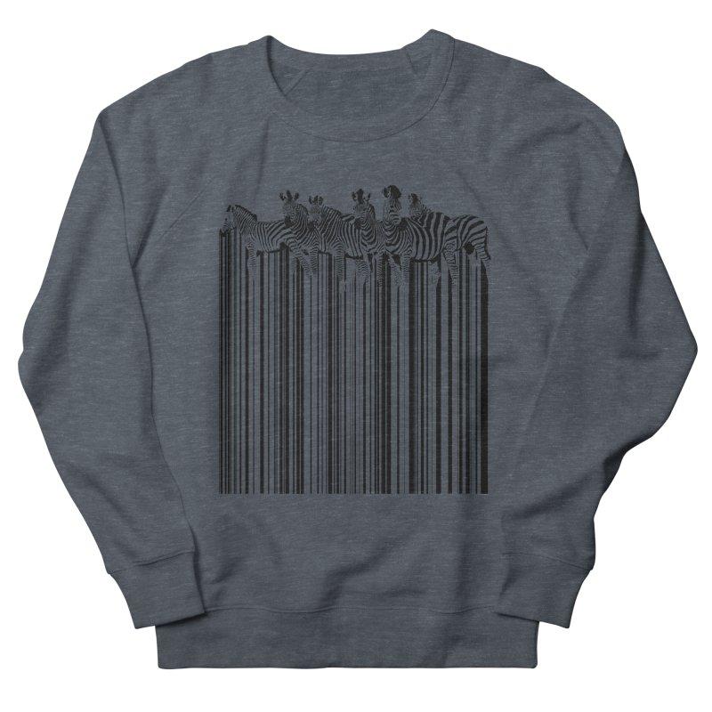 zebra barcode Men's Sweatshirt by filsoofdesigns's Artist Shop