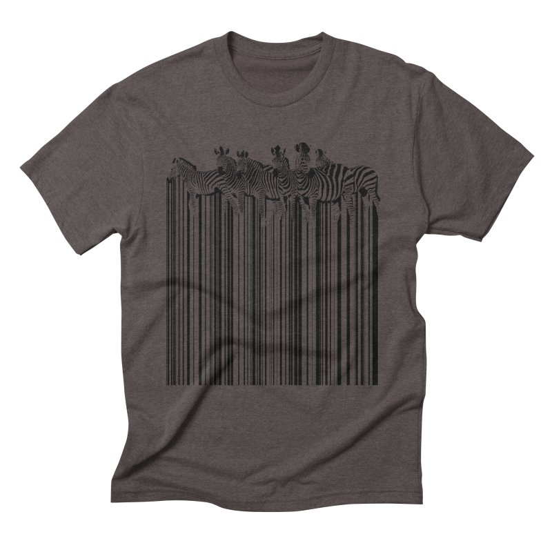 zebra barcode Men's Triblend T-Shirt by filsoofdesigns's Artist Shop