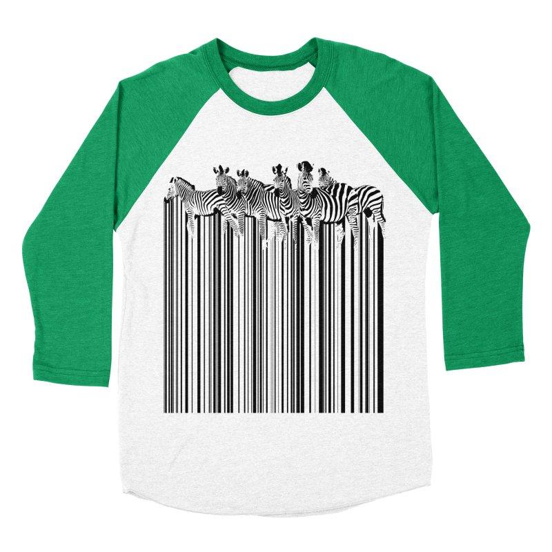 zebra barcode Women's Baseball Triblend T-Shirt by filsoofdesigns's Artist Shop